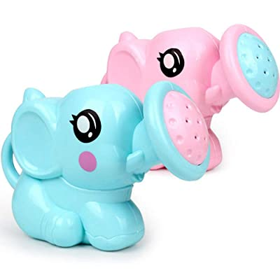 Gbell Fun Bath Toys for Toddlers - Kid's Elephant Water Bath Shower Kettle Tub Bathroom Playing Bath Toys for Boys Girls Baby Toddlers Infant Newborn Age 1-6 Years Old (2 Pcs): Sports & Outdoors