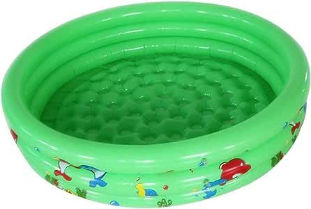 Piscina hinchable para bebé, familia, redonda, gruesa, piscina, niña, piscina, piscina, color verde: Amazon.es: Salud y cuidado personal