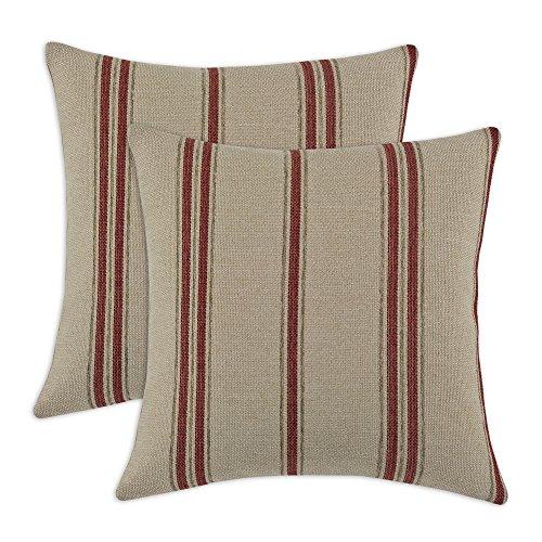Brite Ideas Living & Company KE Fiber Pillow, 17 by 17-Inch, Rafting Pearl, Set of 2