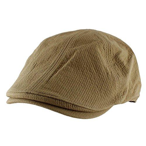 Morehats Faux Linen Cotton Corduroy Newsboy Cap Gatsby Golf Hat - Camel, Medium