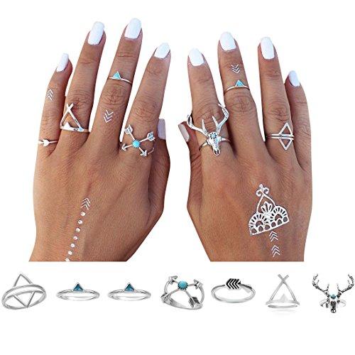start-7pcs-bohemian-turkish-deer-arrow-turquoise-knuckle-ring-set-rings