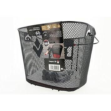 Hapo-G 11202196 Panier Avant pour vélo électrique Mixte Adulte, Noir ... d17e1ce0102