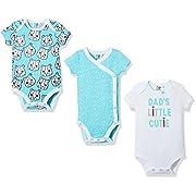 Silly Apples Baby 3-Pack Short-Sleeve Bodysuit (NB)