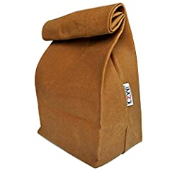 Waxed Canvas Lunch Bags Brown