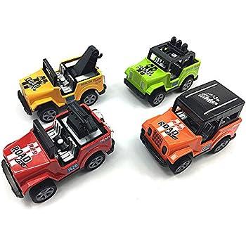 Amazon Com Toy Jeep 4 Pcs Pullback Jeep Wrangler Vehicles Toys