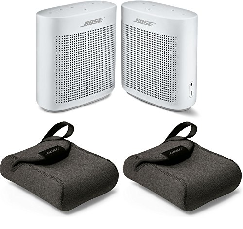 Bose Soundlink Color II Polar White Bluetooth Speaker & SoundLink Color Carry Case Bundle (2-Pack) by Bose
