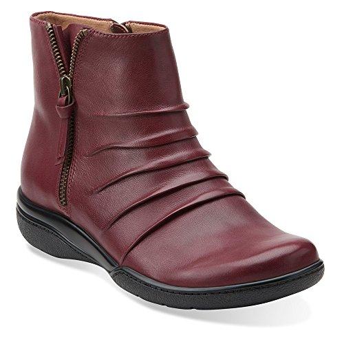 Blush Clarks Womens Burgundy Leather Clarks Kearns Womens Boot Kearns wp1qZfx