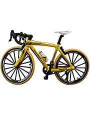 Jiating Mini Bicycle Model, Finger Bikes Toys, Alloy Diecast Racing Bicycle Mountain Bike Decoration Crafts,1:10 Curved Simulation Bike Model,For Kids Boys Office Racing Club