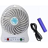 Ape Cases Branded Powerful Rechargeable USB Mini Fan - Portable Comfort- (Assorted Colour)