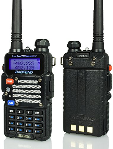 Baofeng Radio US BF-F9 V2+ 8-Watt Hi-Power (USA Warranty) Dual-Band 136-174/400-489.99 MHz Hand Held Ham Radio Two-Way Transceiver - With Battery, Earpiece, Antenna & Charger - 400 Us