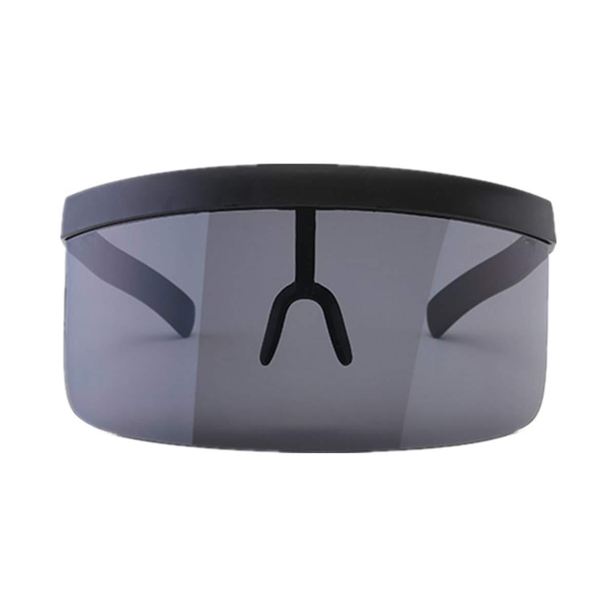 VORCOOL Oversize Gafas de Sol Futuristic Shield Visera Flat Top Mirrored Unisex protección Cortavientos protección Solar para Hombres Mujeres Deportes ...