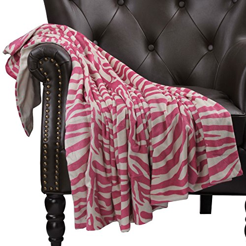 Home Soft Things Boon Throw Blanket Printed Microplush Animal Nature Kid Friendly Nap Couch Throw, 44