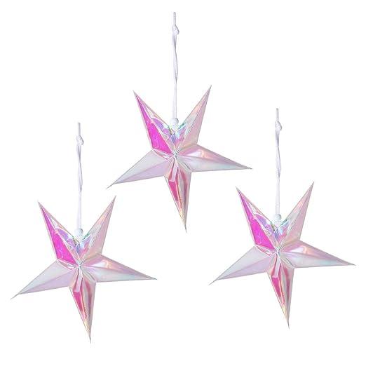 Holibanna Techo Pared Holo decoración Estrella Forma Navidad ...