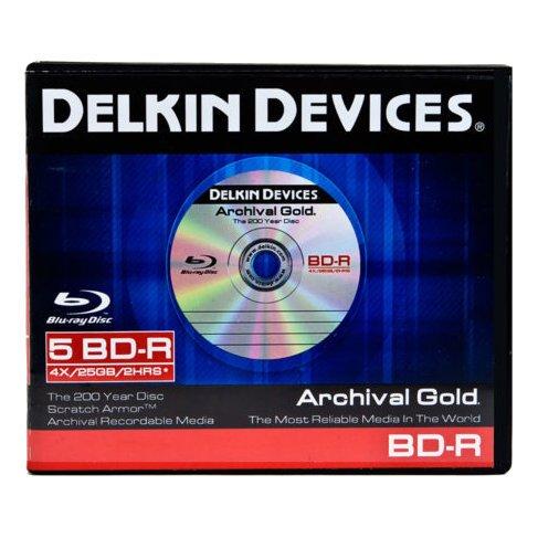 Delkin DDBD-R/5 BIND 6X 5 Pack BD-R in 10 Pack Binder by Delkin