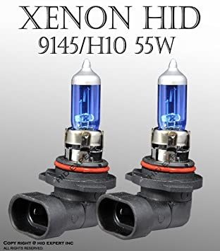 H10 Light Bulb: H10/ 9145 55W pair Fog Light Xenon HID Super White Replacement Bulbs,Lighting