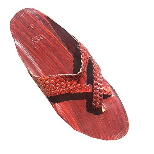 Handwerk Paduki-2 Heren Bordeaux Lederen Sandaal