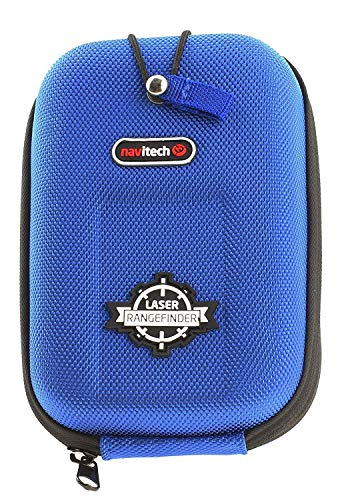 Navitech Blue EVA Rangefinder Hard Case/Cover with Carabiner Clip Compatible with The Precision Pro Golf Nexus Golf Laser Rangefinder