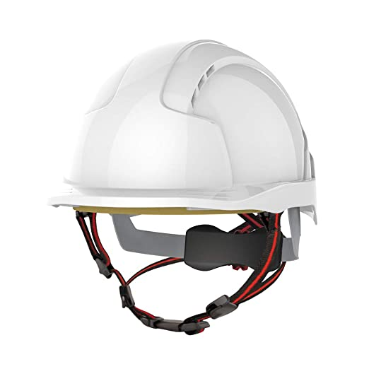 Casco de escalada industrial, de JSP AJS260-000-100 EVOLite Skyworker, color blanco: Amazon.es: Industria, empresas y ciencia
