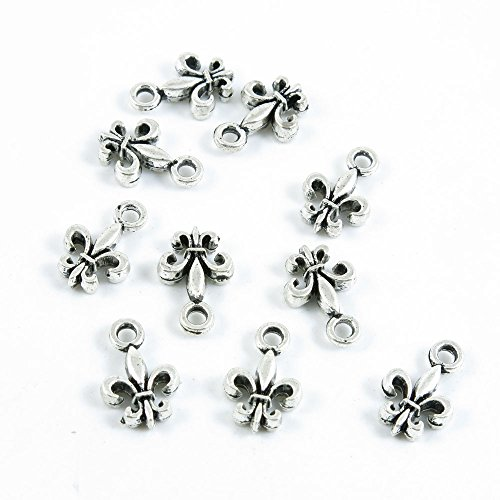60 Pieces Antique Silver Tone Jewelry Making Charms