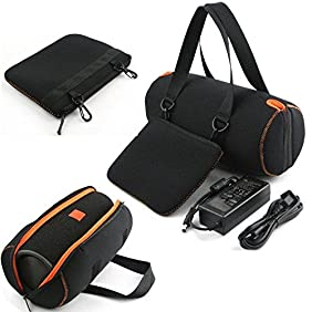 3C-LIFE Travel Carry Pouch Sleeve, Portable Protective Box Cover, Bag Cover Case For JBL Xtreme Wireless Bluetooth Speaker, System Storage Box-BLACK
