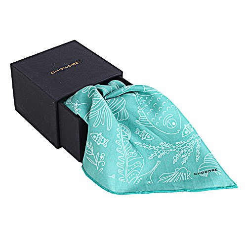 Chokore Twill Silk Sea Green Pocket Squarethe Marine range - Exclusive Silk Twill