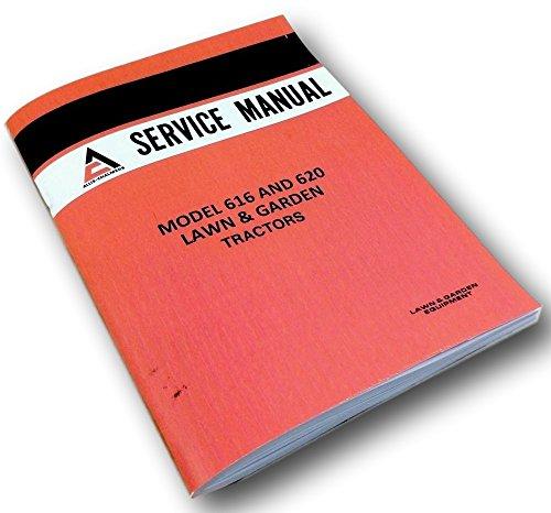 Allis Chalmers 616 620 Lawn Garden Tractors Mowers Service Shop Repair Manual