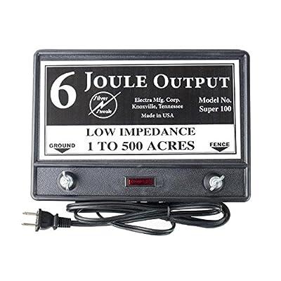 Fence Charger Super 100 6-Joule / Free Lightning Diverter & Two Lightning Fuse 5J>