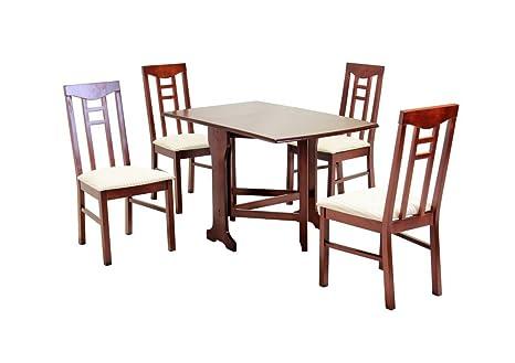 Hgg Drop Leaf pieghevole da tavolo con 4 sedie da cucina - Set da ...
