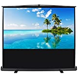 Arksen 60-inch Pull Up Projector Screen Projection Mobile 4:3 HD Portable Home Theater Aluminium Case w/ Handle