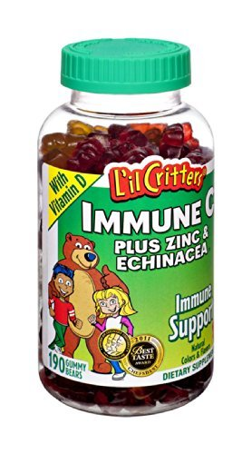 L'il Critters Immune C Plus Zinc and Echinacea with Vitamin D Gummy Bears Dietary Supplement , 190 CT (Pack of 3)