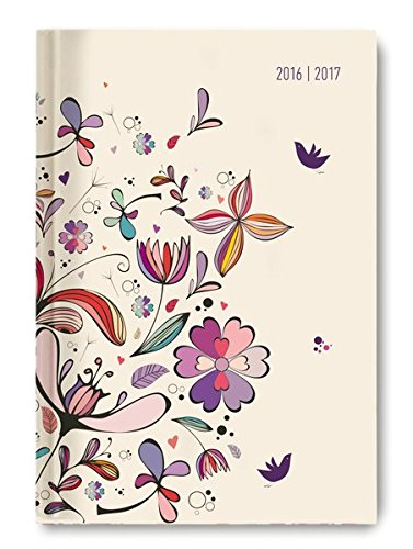 Collegetimer Flower Art A6 2016/2017: Amazon.es: Oficina y ...