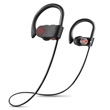 ubei Bluetooth geadphones IPX7 resistente al agua auriculares inalámbricos deportes auriculares Bluetooth con micrófono de graves