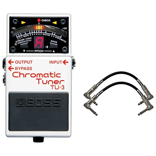 Boss TU-3 Tuner Pedal w/ 2 Geartree Patch Cables