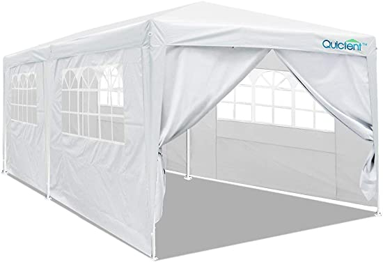 Quictent Upgraded 10×10 Ez Pop up Canopy Tent Portable Gazebo Outdoor Instant Canopy Shelter Waterproof with Wheeled Carry Bag -Beige