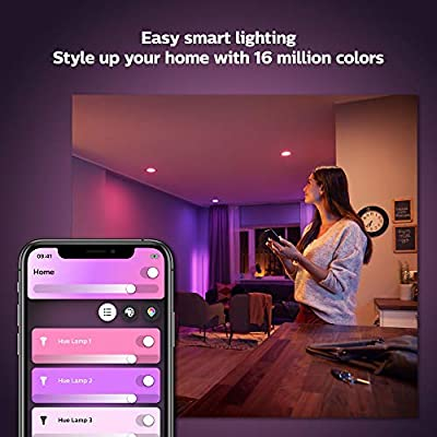Philips Hue White and Color Ambiance 2-Pack BR30 LED Smart Bulb, Bluetooth & Zigbee compatible (Hue Hub Optional), Works with Alexa & Google Assistant - A Certified for Humans Device