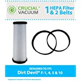 Filter and Belt Kit for Dirt Devil Vacuums (F1 Filter, 4/5 Belts); Compare to Dirt Devil Part Nos. 3JC0280000, 1540310001, 3720310001; Designed & Engineered by Think Crucial