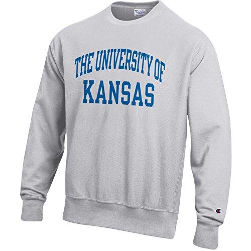 Champion NCAA Kansas Jayhawks Men's Men's Reverse Weave Crew, Medium, ()