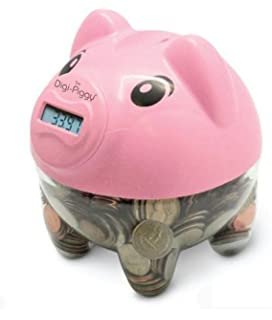 Amazoncom The DigiPiggy Digital Coin Counting Bank Toys  Games