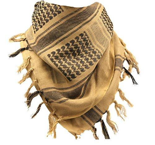 Generic Tactical Desert Shemagh Arab Keffiyeh Neck Scarf Tan