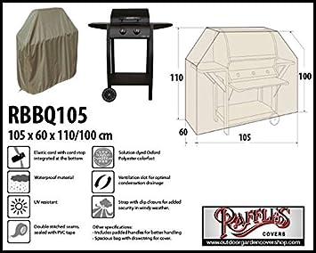 Raffles Covers rbbq105 Cubierta Barbacoa 105 x 60 h: 110/100 cm meteorológica Funda