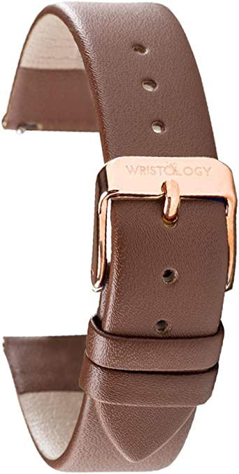 WRISTOLOGY Watch Bands - Leather Quick Release Watch Strap Replacement - Unisex Mens or Womens Choose Color and Width 14mm, 16mm, 18mm, or 20mm ...