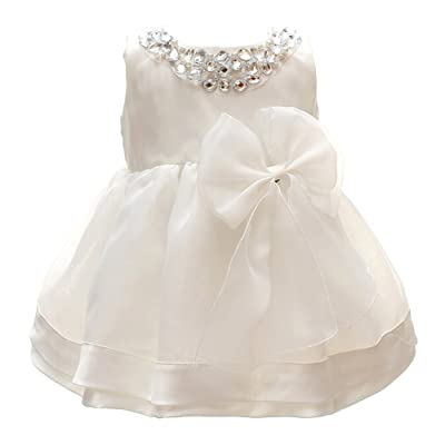 Meiqiduo Baby Girl Christening Dress Baptism Gowns Princess Wedding Party Formal Dresses