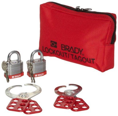 - Brady Personal Lockout Pouch, Includes 2 Steel Padlocks by Brady