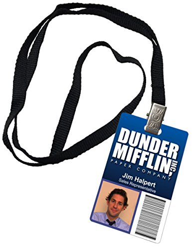 Jim Halpert Dunder Mifflin Inc. Novelty ID Badge The Office Prop Costume -