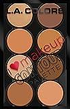 L.A. Colors I Heart Makeup Contour Palette, Medium to Dark, 1.04 Ounce