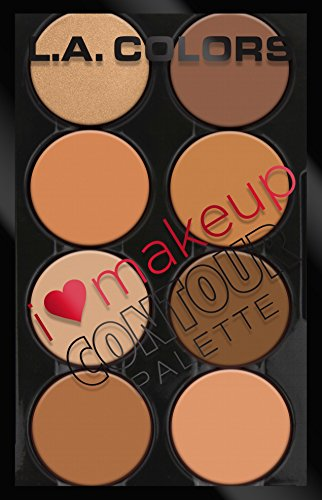 L.A. Colors I Heart Makeup Contour Palette, Medium to Dark, 1.04 Ounce