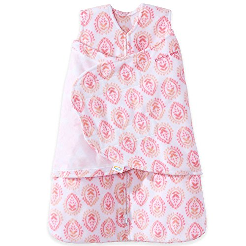 Price comparison product image HALO SleepSack Microfleece Swaddle, Pink Floral Medallions, Size Small