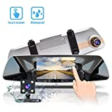 Cheap Dual Dash Cam Touch Screen Mirror Dash Camera HD 1080p Front Car Monitor Recorder with Rear View Reversing Camera Night Vision,Loop Recording,WDR, G-Sensor,Parking Monitor Accfly