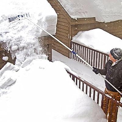 Snow Joe Snow Shovel Roof Rake with Aluminum Blade