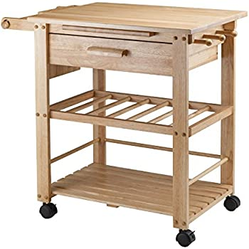 Winsome Wood Finland Kitchen Cart Alaska